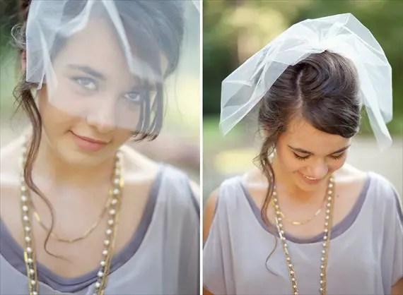 handmade wedding blusher veil (fanciestrands) via The Marketplace at EmmalineBride.com