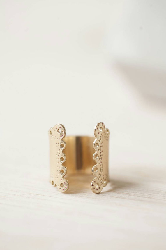 lace imprint wrap ring by blydesign | via emmalinebride.com