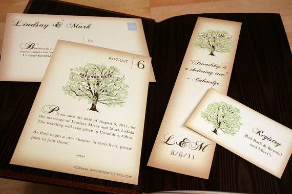 book inspired wedding invitations