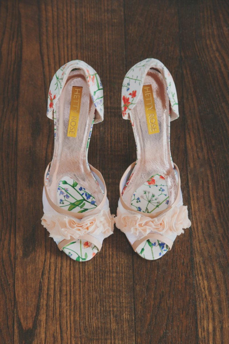 botanical liberty london print heels | via 31 Best Handmade Wedding Shoes http://emmalinebride.com/bride/handmade-wedding-shoes/