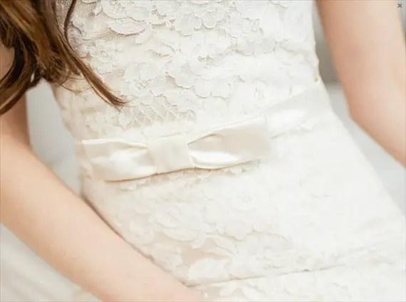 handmade wedding bow belt sash (davie and chiyo) via The Marketplace at EmmalineBride.com