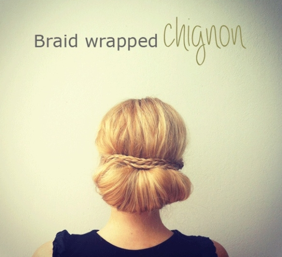 Braided Chignon - via 31 Days of Wedding Hairstyles