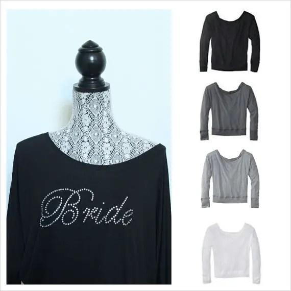 bridal cover ups off the shoulder sweatshirt