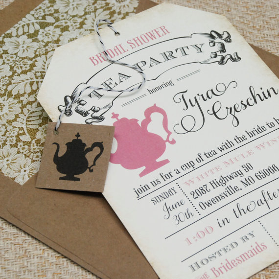 bridal shower tea party invitations via 10 Amazing Handmade Paper Decorations