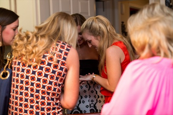 How to Plan an Engagement Party via EmmalineBride.com - wedding proposal on camera (photo: photographs by sabrina via how he asked)
