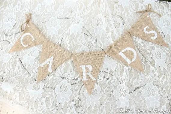 Burlap Wedding Banners - cards