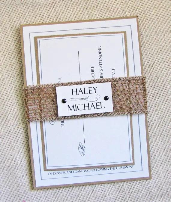 Wedding Invitations Made Of Burlap