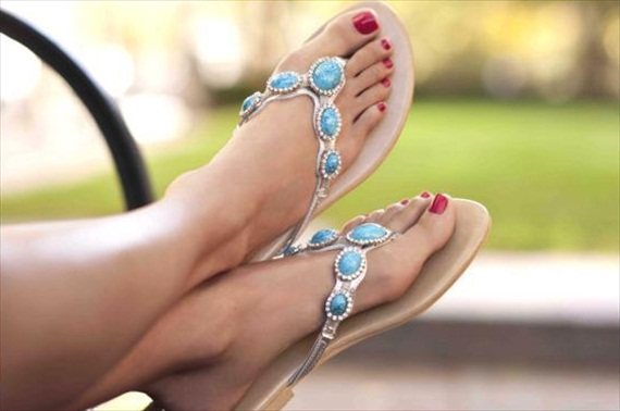cannes turquoise summer sandals