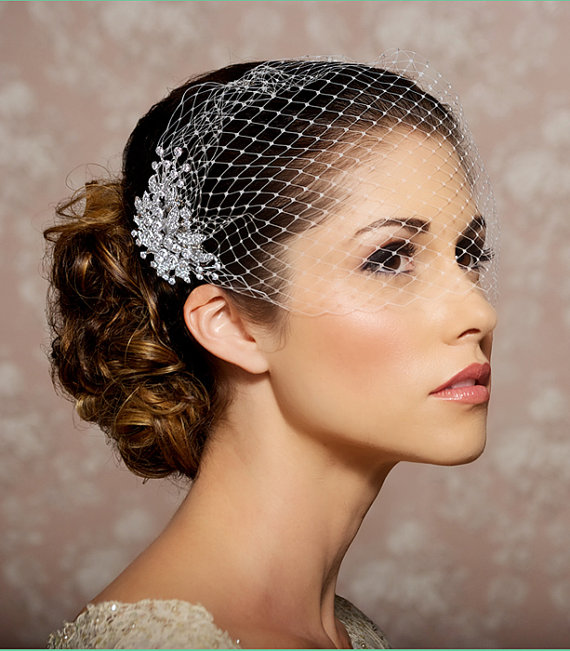 Wedding Hairstyles Examples: How To Wear A Veil With An Updo Hairstyle
