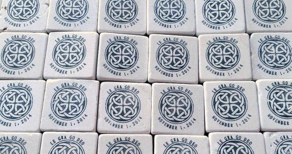 celtic wedding celtic knot coasters - How to Plan an Irish Wedding Theme