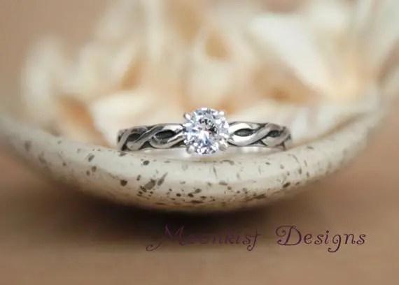 celtic wedding engagement ring