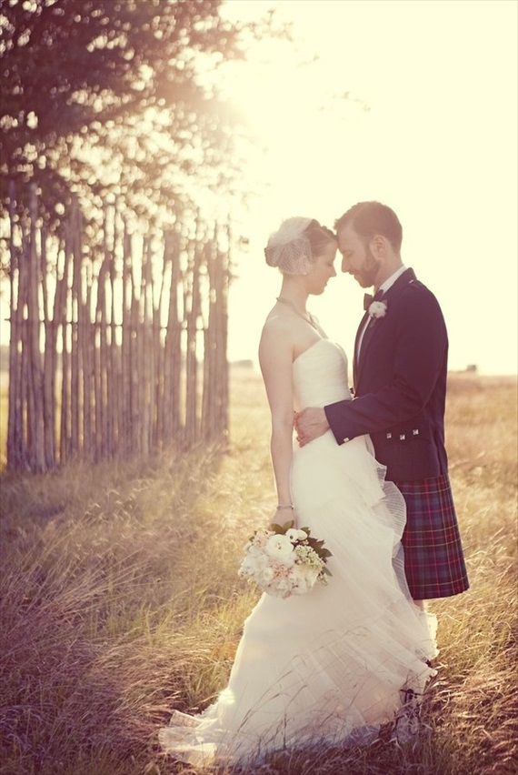 celtic wedding inspiration groom in kilt