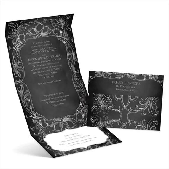 chalkboard flourish - seal and send invitations