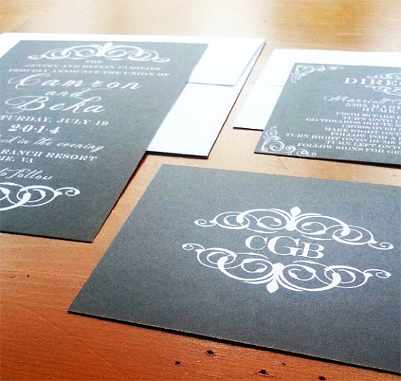 unique wedding invitations | chalkboard wedding invites