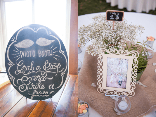 Rustic Chic DIY Vintage Wedding Hagerty Photography Sterling Weddings photo booth decorations, wedding table decorations