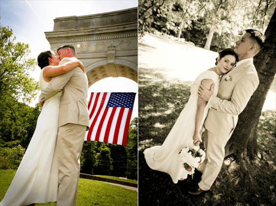 Sarah Brinegar Photography - huntington wedding at the veterans memorial arch
