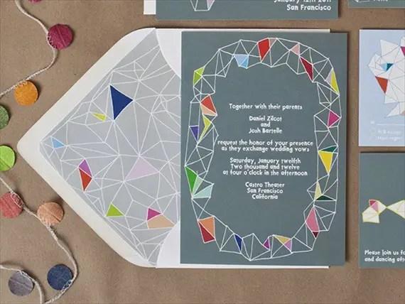 colorful wedding accessories -- invites