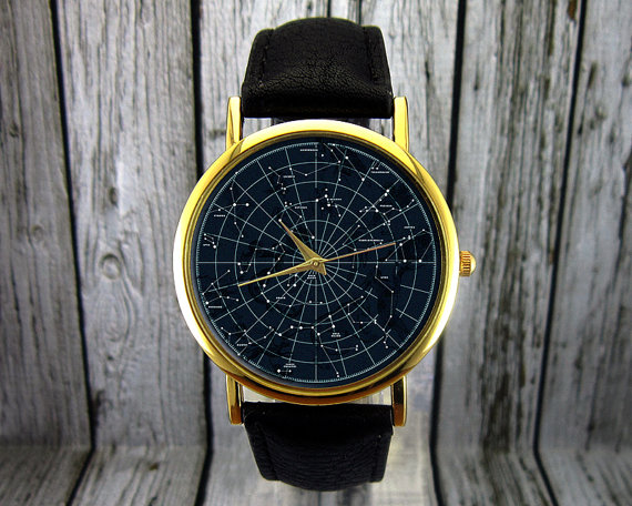 constellation watch by RedJuanShop | via Starry Night Weddings http://emmalinebride.com/vintage/starry-night-weddings-ideas/