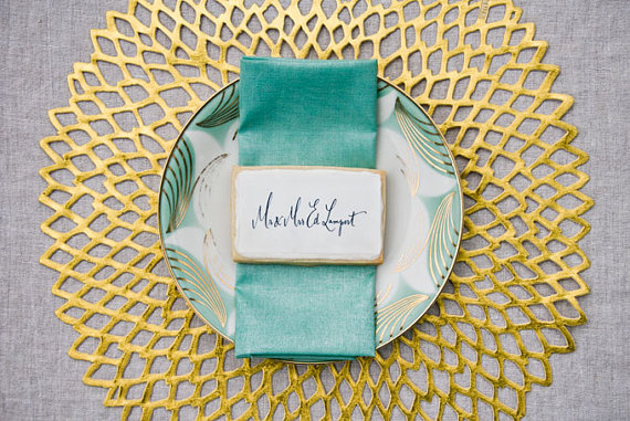 cookie place card favors wedding