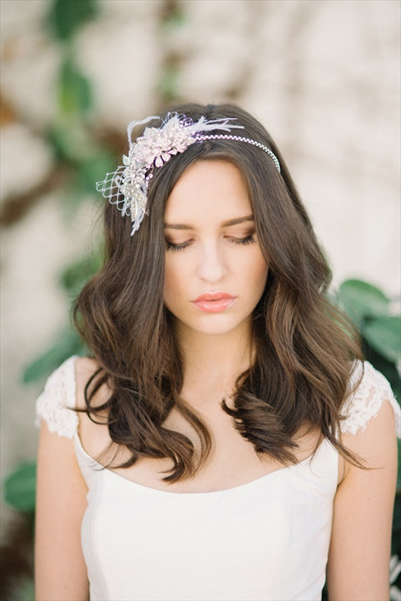 Gorgeous crystal headband (Vienna) by Tessa Kim.  Perfect for your handmade wedding!