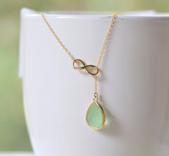 infinity bridesmaid necklace by rustic gem jewelry