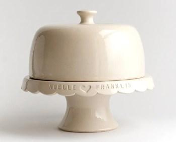 custom wedding cake stand with lid