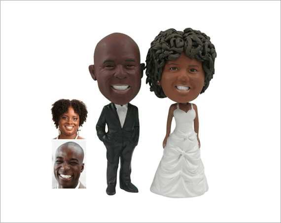 Custom Cake Toppers Made from Your Image Emmaline Bride