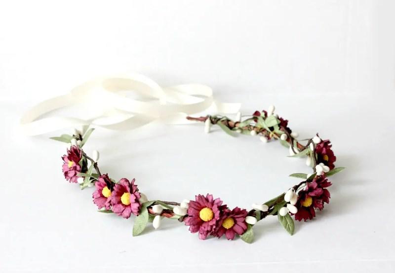 daisy floral crown | daisy ideas theme weddings