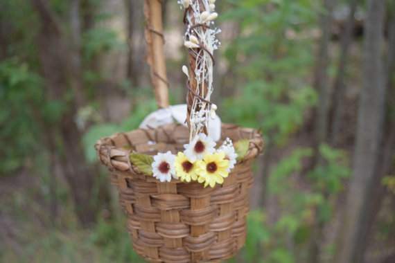 daisy flower girl basket by boho halo company