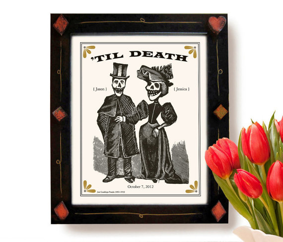 day of the dead wedding print   via wedding prints personalized by theme