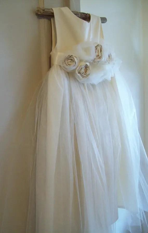 Dew On Roses | Organic Cotton Flower Girl Dresses
