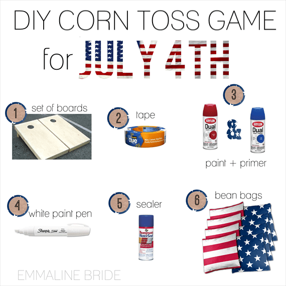 DIY Corn Toss Game for July 4th