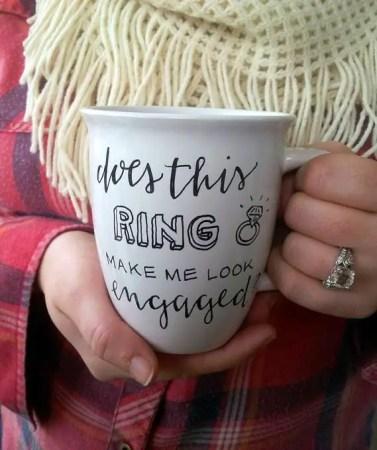 engagement ring mug   via Engagement Ring Care http://emmalinebride.com/bridal/engagement-ring-care/