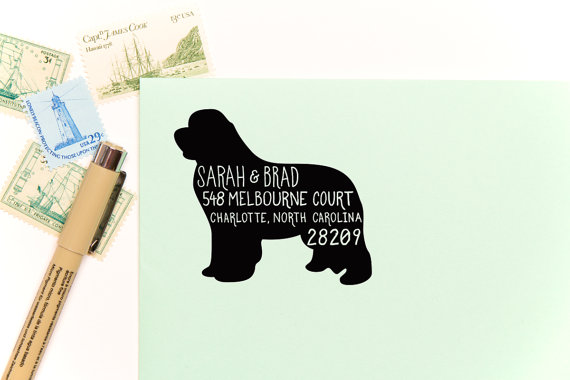 return address stamps etsy