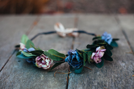 Dusty Rose Hair Crown (by KimArt)