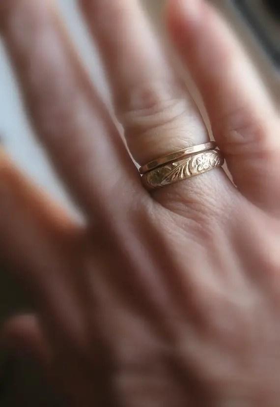 Earthy Wedding Ring Set (by tinahdee beautiful jewelry) #handmade #wedding #jewelry