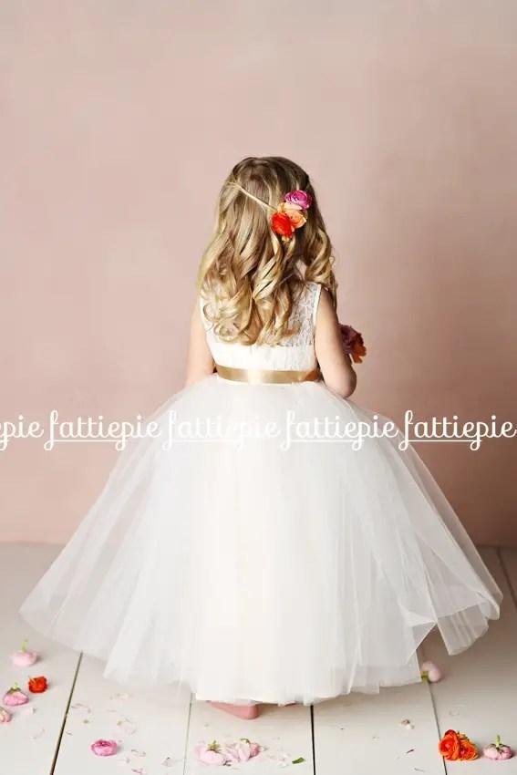 elizabeth flower girl dress back (by Fattie Pie) - formal flower girl dresses #wedding