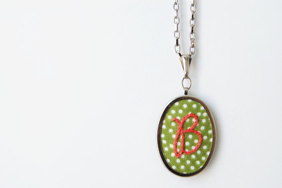 Best Bridesmaid Gifts from A-Z (via EmmalineBride.com) - embroidered necklace by merriweather council