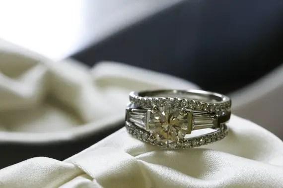 Rebecca Borg Photography - illinois country club wedding - big wedding ring