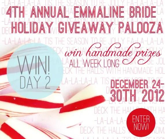 Holiday Giveaway at Emmaline Bride® - Day 2