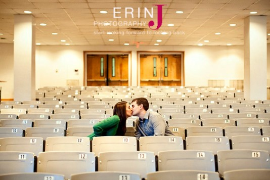 engagement photo ideas - the lecture hall