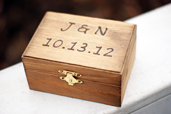 engraved ring bearer box