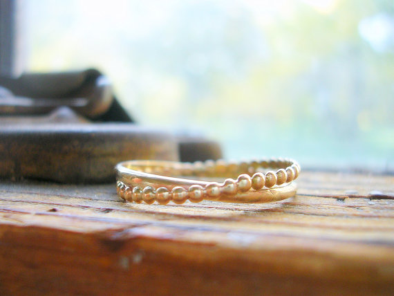 entwined together bands | handmade wedding bands | http://emmalinebride.com/jewelry/handmade-wedding-bands/