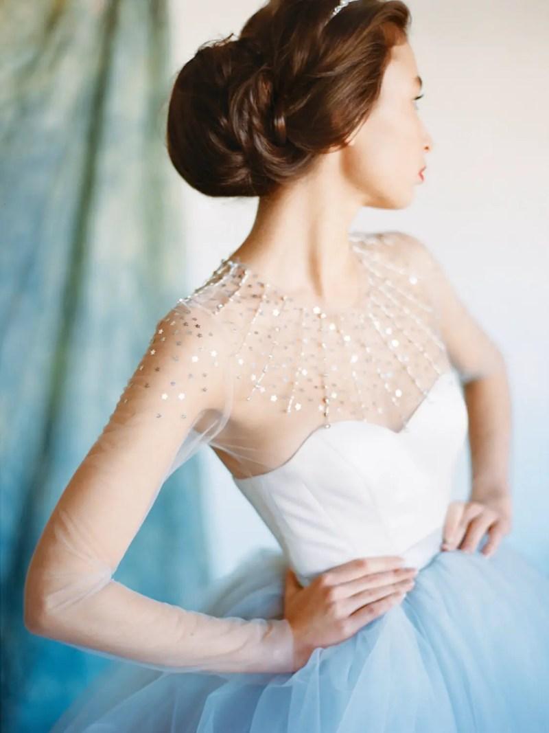 Fairytale Long Sleeve Dresses Winter Weddings (by Milamira Bridal, Photo: Ksenia Milushkina) | http://emmalinebride.com/bride/dresses-winter-weddings/