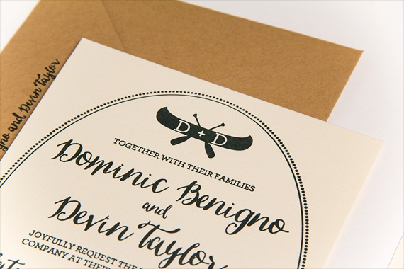 Planning a Camp Themed Wedding This Invitation Seals the Deal