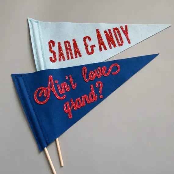 felt wedding pennant banner