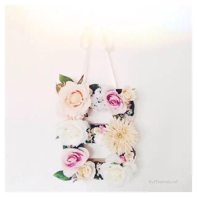 floral monogram buff babies shop