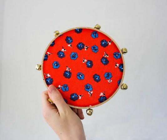 floral tambourine