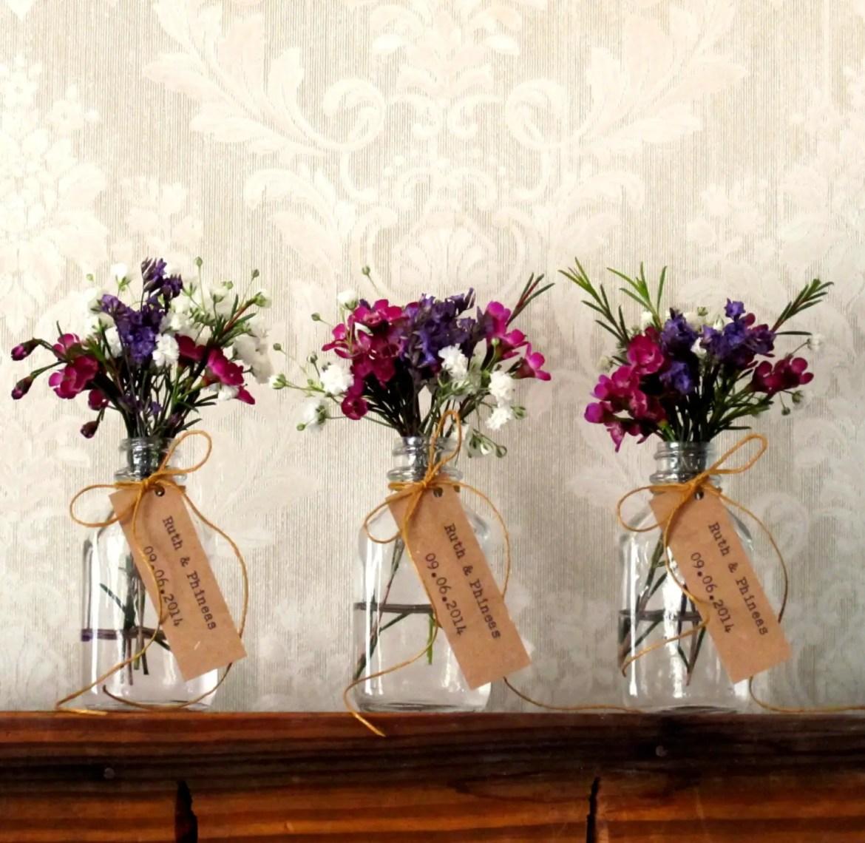 flower vase favors in jars
