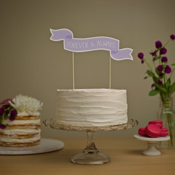 forever and always wedding cake banner